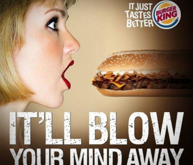 Burger King, Sexistische Werbung, Sexismus, sexistisch, Sexualisierung, Objektivierung