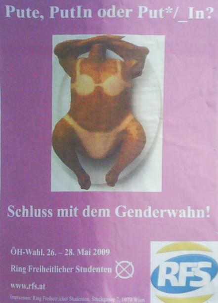 "RFS sieht ""Genderwahn"""