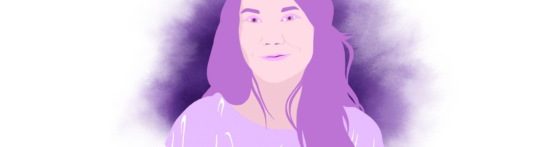 Lea Susemichel an.schläge Magazin purpurr Illustration